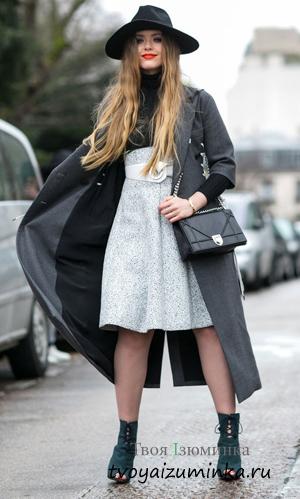 Пальто цвета мокрого асфальта