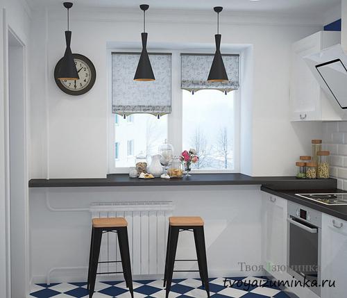 Два цвета в дизайне кухни