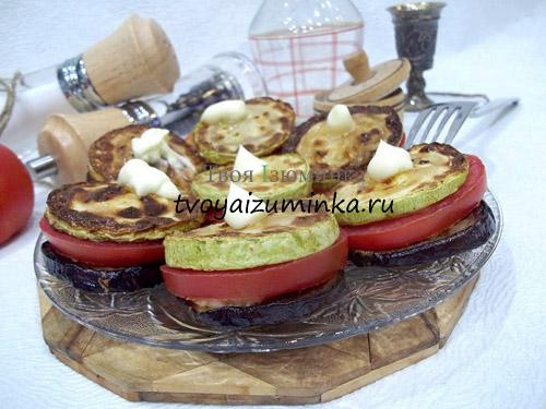 Оригинальная закуска с баклажанами