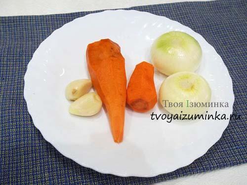 Овощи для маринованных баклажан