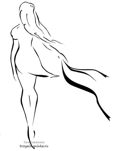 Стоящая женщина