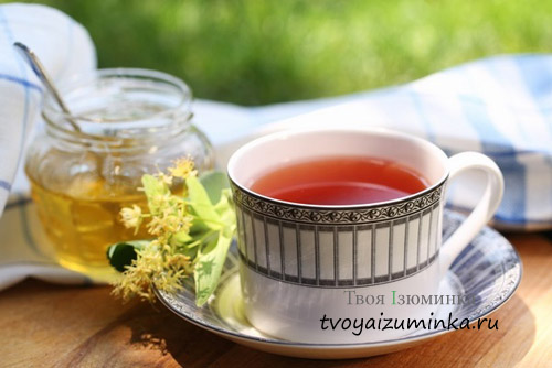 Чай с малиной и липой