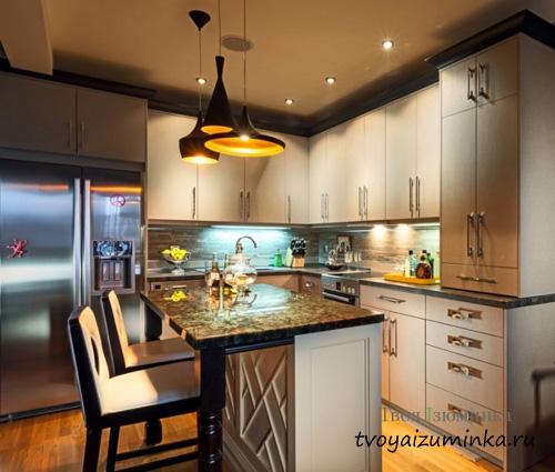 Цветной свет на кухне