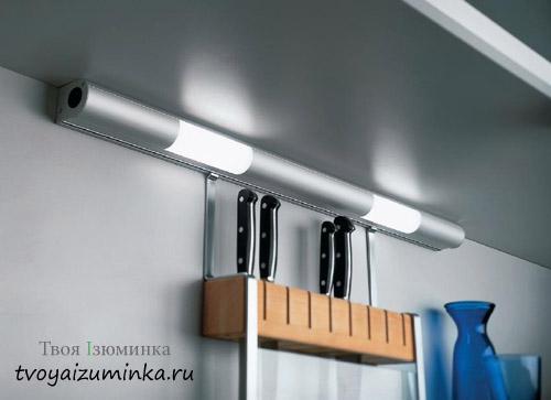 Люминесцентные лампы для освещения кухни