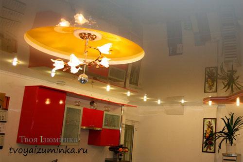 Вариант освещения на кухне