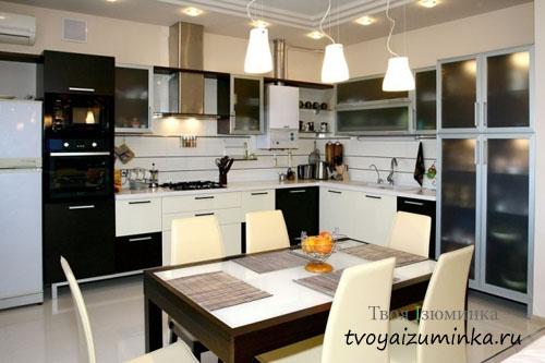 Освещение кухонного стола