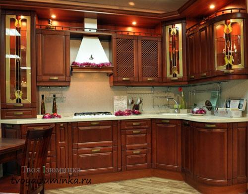 Освещение на кухне рабочих зон