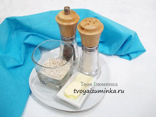 Перловая каша на воде, ингредиенты