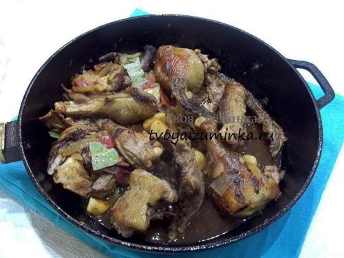 Рецепт утки на сковороде рецепт с пошагово