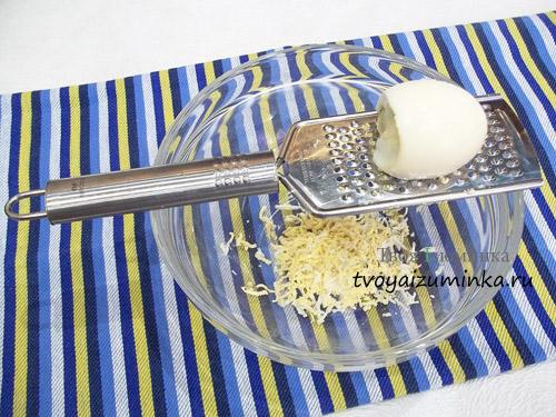 Натертое яйцо