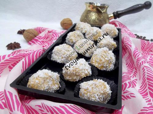 Конфеты из тыквы, рецепт приготовления с пошаговым фото