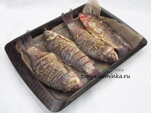 Рыба на противне