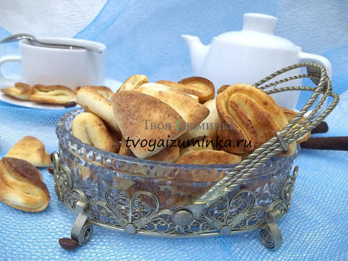 Творожное печенье лапки