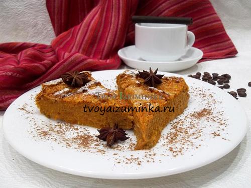 Диетический морковно-тыквенный пирог