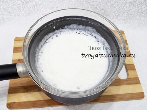 Кефир на водяной бане