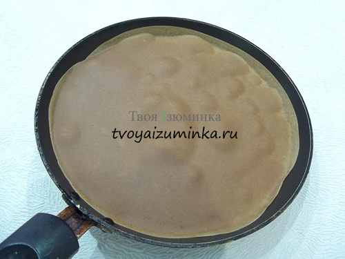 Как приготовить шоколадные блинчики