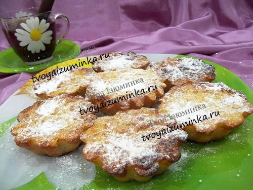 Творожные кексы с овсянкой