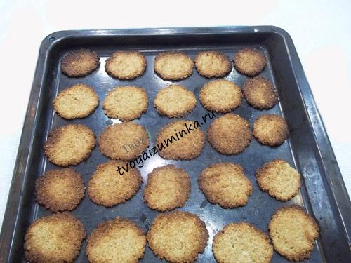 Испеченное овсяное печенье на рассоле