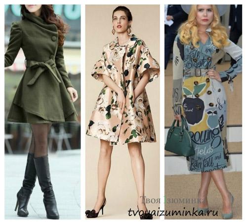 Пальто с декором 2016