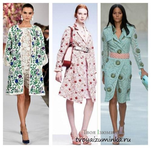 Пальто с модными принтами 2016