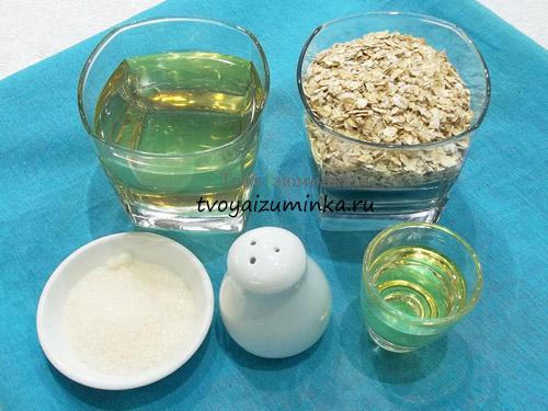 Печенье из овсянки на рассоле, ингредиенты