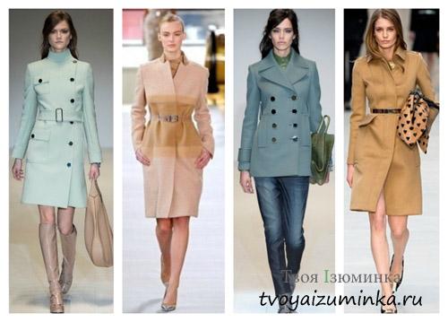 Пальто укороченные и приталенные 2016