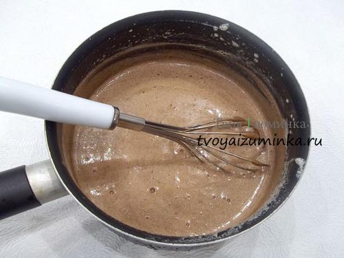 Шоколадно-яичная масса