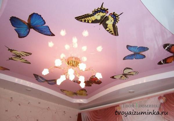 потолки из глянцевой виниловой пленки
