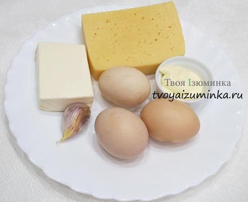закуска из чеснока и сыра