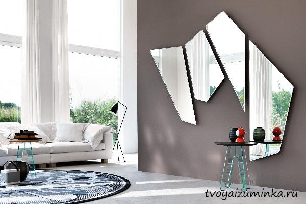 Зеркало в стиле Хай-тек