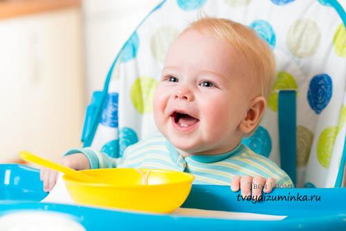 Когда вводить прикорм ребенку. Таблица прикорма детей