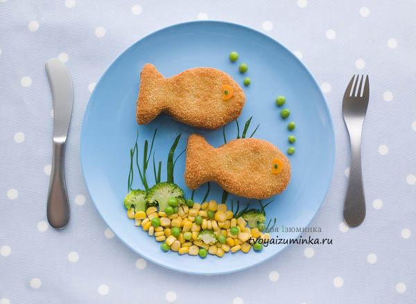 Котлеты в виде рыбок
