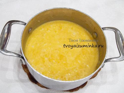 Варка тыквенно-рисовой каши
