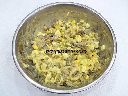 салат и салат из сердца свиного рецепт с фото
