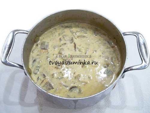 Как приготовить грибной крем суп со сливками рецепт
