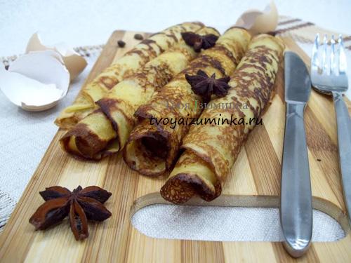 Блины с медом и имбирем, рецепт с фото