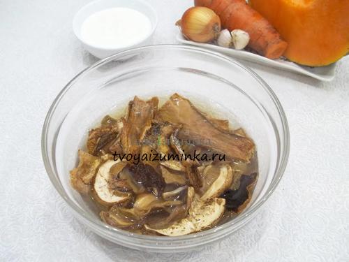 Суп сушеные белые грибы приготовления