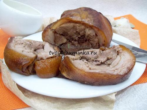 рецепт приготовления рулета из рульки свиной