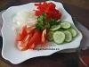 Салат с болгарским перцем и огурцом