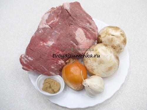 куриное филе рулет с грибами в духовке рецепт с фото