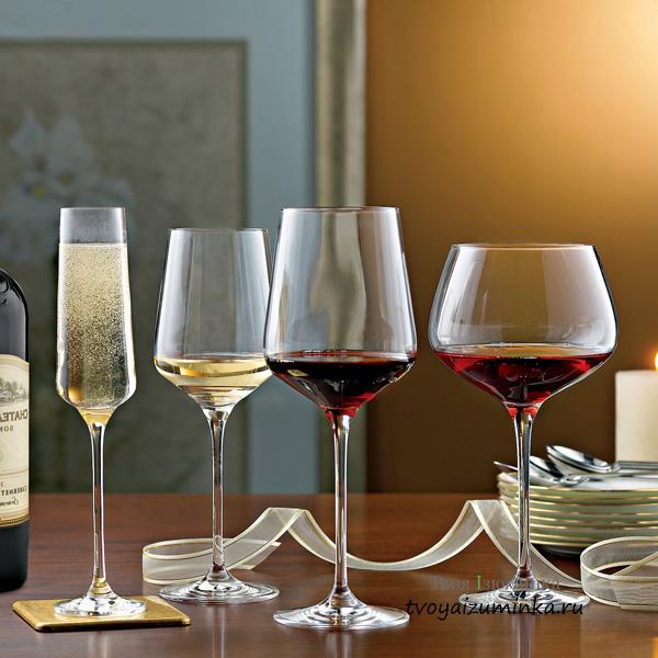 Какие бокалы для каких вин