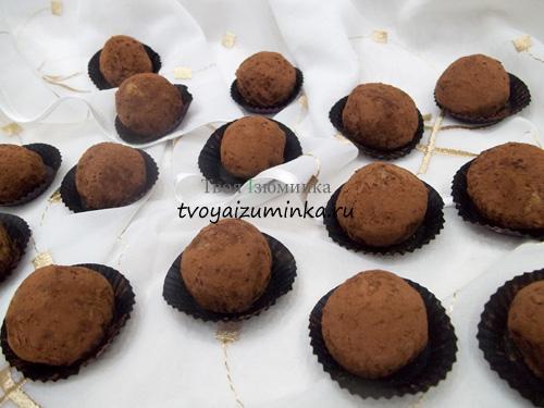 Конфеты из творога и печенья без выпечки