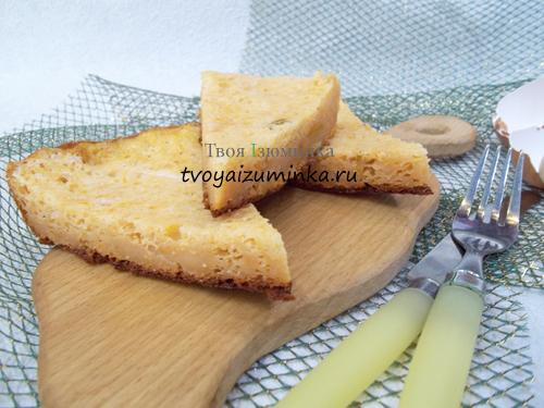 Творожная запеканка с тыквой: рецепт с пошаговым фото