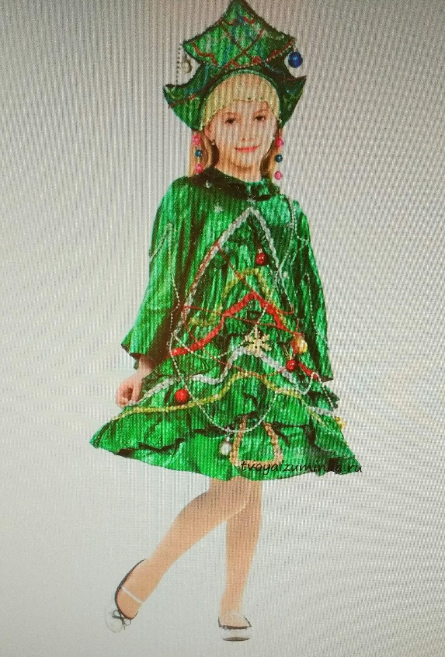 Платье костюм Елочка для девочки на Новый год своими руками: выкройка, инструкция, как сшить