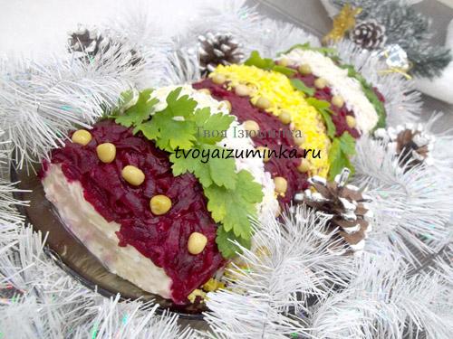 «Селедка под шубой» рулетом: новогодний рецепт с пошаговыми фото