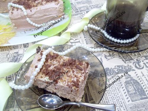 Торт без выпечки из печенья и творога: рецепт с пошаговыми фото