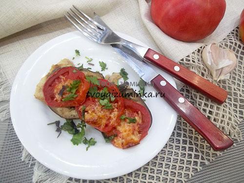 Филе минтая с овощами запеченное в духовке