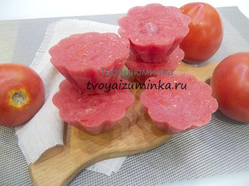 Пюре из помидоров: как заморозить помидоры на зиму в морозилке