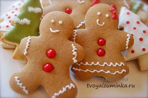 Имбирное печенье на рождество