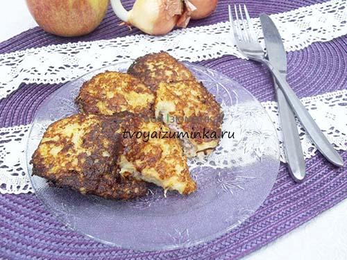 Картофельные драники с начинкой из фарша: рецепт на сковороде